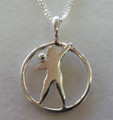 Silver ShotPut Pendant on Silver Chain 1032