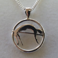 Silver HighJump Pendant on Silver Chain 1033
