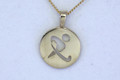 9ct  Gold AUS REP Large Plain  Pendant  G-2251