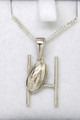 Silver Rugby Pendant 8001