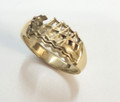 9ctGold Dragon Boat Ring - sizes P & T