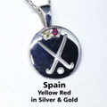 SPAIN REP Pendant, stone set - Silver or Gold