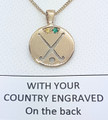 SOUTH AFRICA REP Pendant, stone set - Silver or Gold