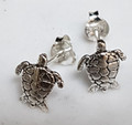 TURTLE studs ,available silver & 9ct gold