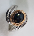 2 tone Gold Hand Made Australian Sapphire ring