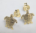 """TURTLE "" studs earrings ,9ct gold"