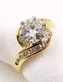18ct Yg 1.3ct CERTIFIED Diamond