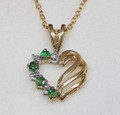 9ct Emerald & Diamond Pendant on Special !