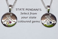 NEW State Pendant- Small ( 13mm disc)