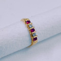 9ct Gold NATURAL Rubies & Diamonds