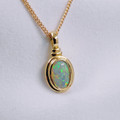 18ct Gold - designed by Michele - SOLID OPAL !