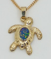 9ct Solid Gold  Crafted turtle ,Solid Opal
