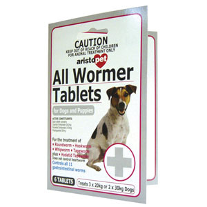 Aristopet All Wormer for Dogs and Puppies - 6 Tablets