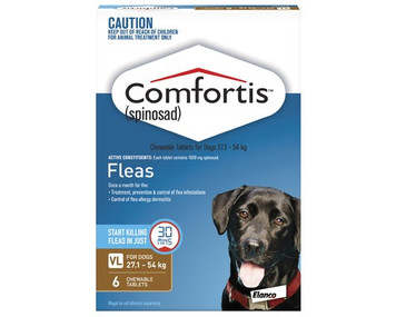 Comfortis for Dogs 60.1-120 lbs (27.1-54 kgs) - 12 Pack - Brown