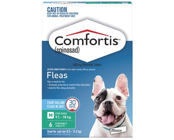 Comfortis for Cats 12.1-24 lbs (5.5-11.2 kgs) - 12 Pack - Green