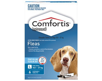Comfortis for Dogs 40.1-60 lbs (18.1-27 kgs) - 12 Pack - Blue