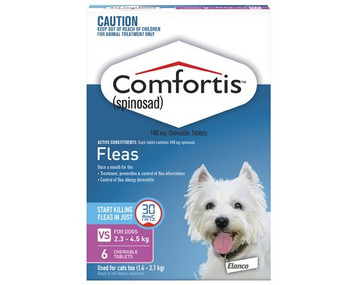 Comfortis for Dogs 5-10 lbs (2.3-4.5 kg) - 12 Pack - Pink