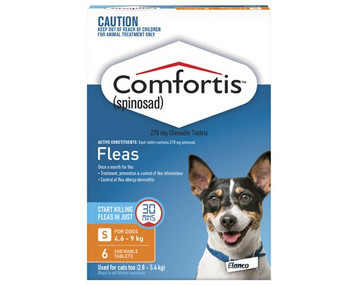 Comfortis for Dogs 10.1-20 lbs (4.6-9 kg) - 12 Pack - Orange