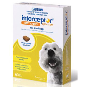 Interceptor Spectrum for Small Dogs 11-25 lbs (4-11 kgs) - 6 Pack - Green
