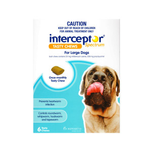 Interceptor Spectrum for Large Dogs 51-100 lbs (22-45 kgs) - Single Dose - Blue