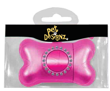 Plastic Pet Poop Bag Dispenser - Pink