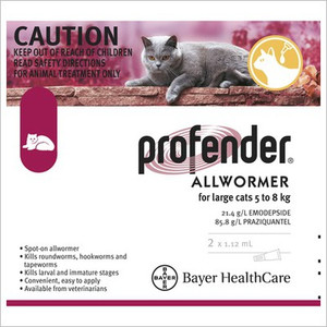 Profender for Cats 11-17.6 lbs (5-8 kg) - 2 Pack - Red