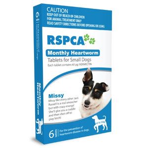 RSPCA Heartworm Tablets for Dogs up to 22lbs (up to 10kg) - 12 Pack - Blue