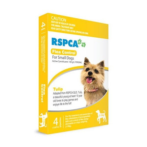 RSPCA Flea Control for Small Dogs 4-22lbs (2-10kg) - 4 Pack - Yellow