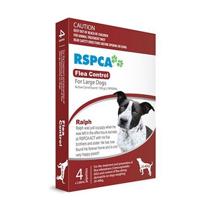 RSPCA Flea Control for Large Dogs 44-88lbs (20-40kg) - 12 Pack - Red
