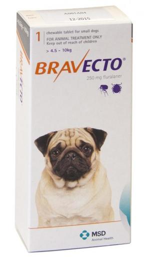 Bravecto for Dogs 10-22lbs (4.5-10 kg) - Orange - 4 Tablets (12 months)