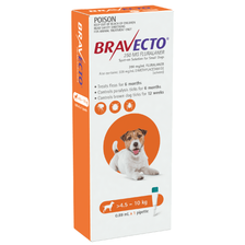 Bravecto SPOT-ON for Small Dogs 9.9-22lbs (4.5-10kg) - Orange (6 Months)