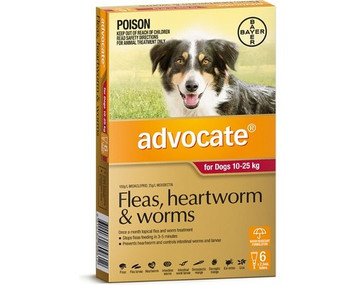 Advocate for Dogs 10-25 kgs (21-55 lbs) - Red - 6 Pack