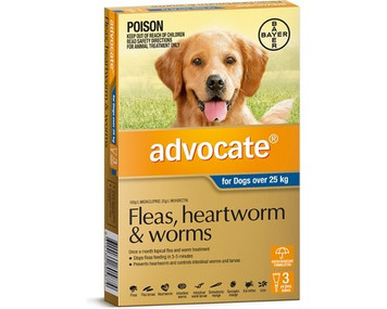 Advocate for Dogs over 25 kgs (over 55 lbs) - Blue - 3 Pack