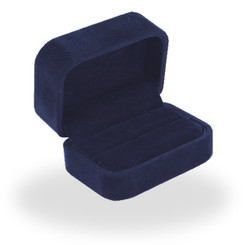 805 High Quality Italian Faux Suede Double Ring Box