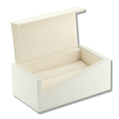 3205 Series High Quality Matte Wood & Chamel Double Ring Box