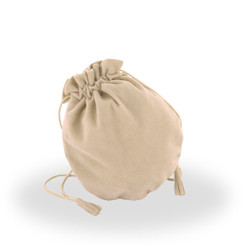 DSP8 High Quality Medium Italian Faux Suede Pouch with Divider inside