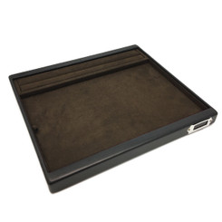 TRY-300-RNG-LTHR Custom Presentation Tray Covered with Leather & Charisma