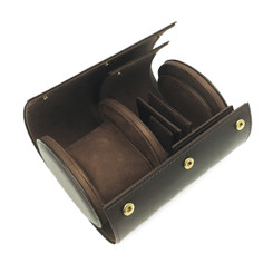 High Quality Watch Travel Case for Watch & Cufflink Covered with Integrity & Chamel