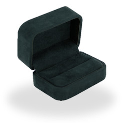 C805 High Quality Italian Faux Suede Double Ring Box