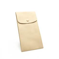 LLRP6 High Quality Faux Leather Button Pouches