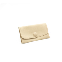 LLRP9 High Quality Faux Leather Button Pouches