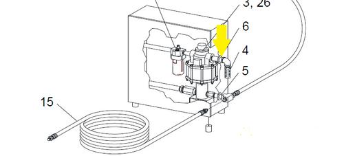 Item Location on WetBlast Flex Pump Module