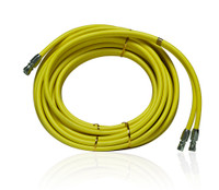 Clemco Air Hose, Twinline, 25 Foot, Coupled