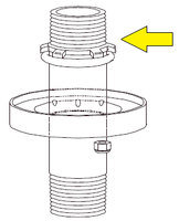 Exhaust Muffler Guide with Nut