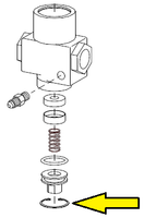 Retaining ring, valve plug, 1/2 inch inlet/outlet