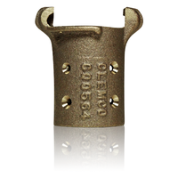 "Clemco CQ-3 Brass Quick Coupling for 2-3/32"" OD Hose"