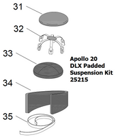 25215 Clemco Apollo 20 DLX Padded Suspension Kit