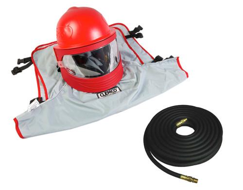 Clemco 25210, Apollo 600 LP DLX Helmet w/ CFC, 50 ft hose