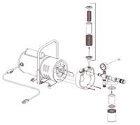 Gauge, 1/4 inch NPT 0-30 psi