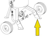 Leg Pad, Left Side for Model 1648 and Model 2452 Blast Pot